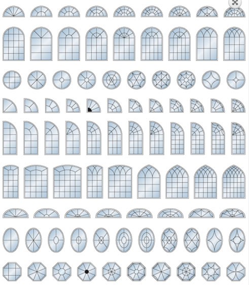 Architectural Shapes 1 – CUSTOM SHAPES AVAILABLE Image